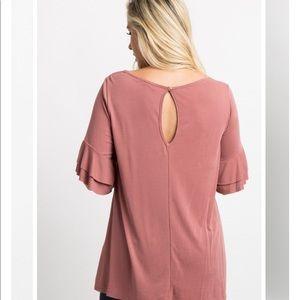 Pinkblush Tops - Pinkblush Mauve V-Neck Top